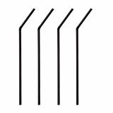 10 x  250 Trinkhalme, flexibel Ø 5 mm · 24 cm schwarz