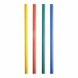 6 x  500 Shake-Halme Ø 8 mm · 25 cm farbig sortiert
