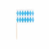 10 x  200 Deko-Picker 8 cm Bayrisch Blau