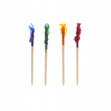 10 x  1000 Deko-Picker 6,8 cm farbig sortiert Frills