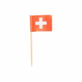 10 x  100 Deko-Picker 8 cm Schweiz