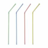6 x  1000 Trinkhalme, flexibel Ø 5 mm · 24 cm weiss Streifen