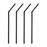 6 x  1000 Trinkhalme, flexibel Ø 6 mm · 21 cm schwarz