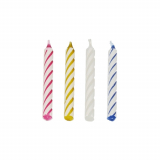 12 x  144 Geburtstagskerzen 6 cm farbig sortiert
