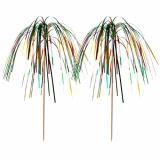 10 x  100 Deko-Picker 15,5 cm Feuerwerk multicolor