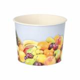 10 x  50 Eisbecher, Pappe rund 500 ml Ø 11 cm · 8,3 cm Früchte