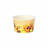 7 x  200 Eisbecher, Pappe rund 125 ml Ø 8 cm · 4,8 cm Früchte