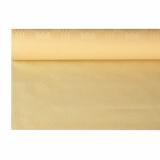 12 x  Papiertischtuch mit Damastprägung 8 m x 1,2 m creme