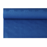 12 x  Papiertischtuch mit Damastprägung 8 m x 1,2 m dunkelblau