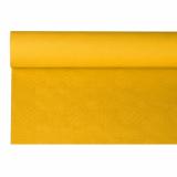 12 x  Papiertischtuch mit Damastprägung 8 m x 1,2 m gelb
