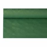 12 x  Papiertischtuch mit Damastprägung 8 m x 1,2 m dunkelgrün