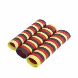 10 x  3 Luftschlangen 4 m schwarz/rot/gelb flammhemmend