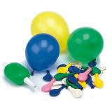 10 x  50 Luftballons mit Pumpe Ø 8,5 cm farbig sortiert
