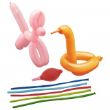 10 x  5 Modellierballons 120 cm farbig sortiert mit Pumpe