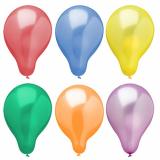15 x  6 Luftballons Ø 25 cm farbig sortiert Metallic