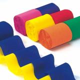 10 x  6 Rollen Krepp-Bänder 10 m x 5 cm farbig sortiert