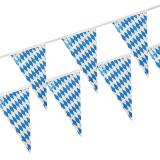 10 x  Wimpelkette, Folie 4 m Bayrisch Blau wetterfest