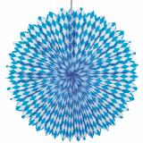 10 x  Dekofächer Ø 75 cm Bayrisch Blau schwer entflammbar