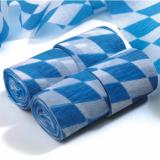 10 x  4 Rollen Krepp-Bänder 10 m x 5 cm Bayrisch Blau schwer entflammbar