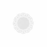 8 x  250 Teller- und Tassendeckchen rund Ø 12 cm weiss