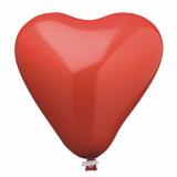 10 x  Luftballon, Maxi Ø 44 cm rot Heart mit Verschlußclip