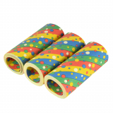 10 x  3 Riesenluftschlangen 15 m Confetti flammhemmend