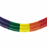 5 x  Großraumgirlande, Papier 10 m Rainbow fringe schwer entflammbar