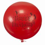 12 x  Luftballon, Maxi Ø 70 cm farbig sortiert Happy Birthday mit Verschlußclip
