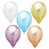 12 x  10 Luftballons Ø 25 cm farbig sortiert Pearly