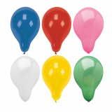 5 x  100 Luftballons rund Ø 28 cm farbig sortiert