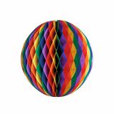 5 x  Wabenball Ø 60 cm Rainbow schwer entflammbar