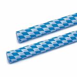 5 x  Krepp-Papier 10 m x 50 cm Bayrisch Blau schwer entflammbar auf Rolle