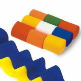 5 x  9 Rollen Krepp-Bänder 10 m x 5 cm farbig sortiert schwer entflammbar