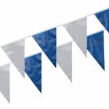 5 x  Wimpelkette, Folie 10 m blau/weiss wetterfest