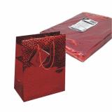 5 x  10 Lacktragetasche, Mittel 23 cm x 18 cm x 10 cm rot Holografie