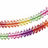 10 x  Girlande, Papier oval 4 m Rainbow