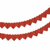10 x  Motiv-Girlande 4 m rot Heart