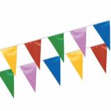 10 x  Wimpelkette, Folie 4 m farbig wetterfest