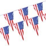 10 x  Wimpelkette, Folie 4 m America wetterfest