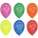 12 x  10 Luftballons Ø 29 cm farbig sortiert Happy Birthday