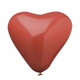 12 x  10 Luftballons Ø 26 cm rot Heart large