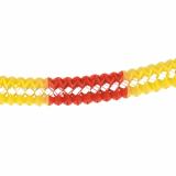 5 x  Großraumgirlande, Papier Ø 16 cm · 10 m rot/gelb/rot schwer entflammbar