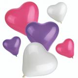 12 x  12 Luftballons farbig sortiert Heart small + medium