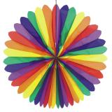 3 x  Dekofächer Ø 120 cm Rainbow schwer entflammbar
