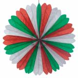 10 x  Dekofächer Ø 60 cm grün/weiss/rot schwer entflammbar