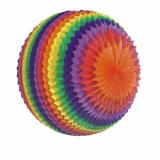 3 x  Streifenball Ø 50 cm Rainbow schwer entflammbar