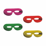 12 x  6 Gesichtsmasken farbig sortiert Metallic