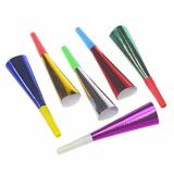 12 x  6 Trompeten 18 cm farbig sortiert Metallic