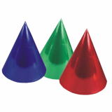 12 x  6 Hütchen farbig sortiert Metallic