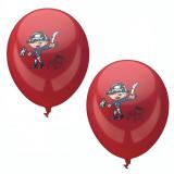 12 x  6 Luftballons Ø 29 cm rot Pirate
